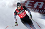 (BORMIO, Italy - Shot 2/5/2005) Austrian downhiller Michael Walchhofer comes to a stop in the...