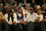 "(DENVER, COLO.,  FEBRUARY 20, 2005) Rapper/Hip-hop star Nelly (left) and Sean ""P. Diddy""..."