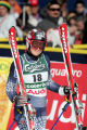 (SANTA CATERINA, Italy - Shot 2/8/2005) U.S. skiier Kristina Koznick (#18) walks away disappointed...