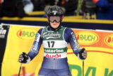 (SANTA CATERINA, Italy - Shot 2/8/2005) U.S. skiier and Vail native Sarah Schleper (#17) looks...