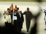 (Colorado Springs, Colo., August 2, 2004) Vice President Dick Cheney and his wife, Lynne Cheney,...
