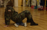 (FORT CARSON, Colo., February 8, 2005) Patience no more. Pfc. Sabrina Black controls a temper...