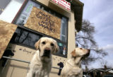 (DENVER, Colo., February 23, 2005) (L-R) Harley and Bailey are the only customers outside the Perk...