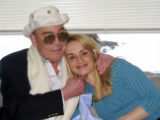 (2/21/05, Aspen, CO) Hunter S. Thompson on his wedding day with his new bride Anita - April 24th,...