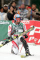 (BORMIO, Italy - Shot 2/12/2005) Rainer Schoenfelder (#3) of Austria reacts after a strong second...