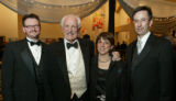 (Denver, Colo., February 12, 2005) Left to right:  John Baril (Opera Colorado chorus master);...