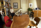(DENVER, CO. August 4, 2004) Susan Saarinen, landscape architect, in her office.  In the...