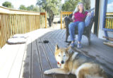 Annette Hayes felt the paws of a mountain lion on her shoulders August 8, 2005, at her home on the...
