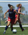 The U.S. women's national team practices at the Home Depot Center in Carson, Calif., on Friday...