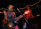 Tammy Ealom(cq), left, and guitarist John Hill(cq), of Dressy Bessy perform at the Larimer Lounge...