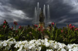 The Joseph Addison Thatcher fountain in City Park is showing all its glory this summer with the...