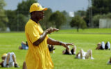 (PUEBLO, Colo., Aug 16, 2005) Rick Upchurch, former Broncos star who now is coaching at Pueblo...