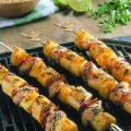 Grilled Chicken, Plantain and Pineapple Skewers. Photo by National Chicken Council.
