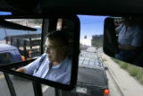 Steve Kady, cq, 63, drives a shuttle for the brand new Auraria's Student Housing Community in...