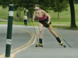 Denver, CO Aug. 23, 2005  Mary Rosinski, a real estate agent and former bicycle racer, roller...