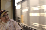 Virgil Jude Martinez, (cq), 68, lives across the street from the light rail station. He lives at...