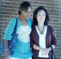 Denver, CO Aug. 24, 2005 Christine Wolfe (right), mother of Vivian Wolfe, and Maisha Pollard,...