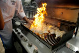 Denver, CO Aug. 20, 2005  Grilling class at the Cook Street cooking school. Rick Giase/Special to...