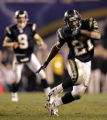 San Diego Chargers running back LaDainian Tomlinson runs for yardage during overtime playoff game...