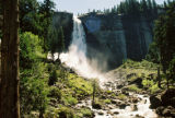Nevada Fall in late morning. This is reached by continuing on the trail that leads to Vernal Fall....