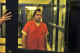 Robert Michael Snyder is moved to a cell Wednesday afternoon September 14,2005 at the Larimer...