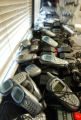 Dozens of cell phones line window sills and walls while charging for use by Bush/Cheney campaign...