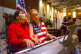 Dace Abele Sultanov (cq), right, and her husband, Van Cliburn medalist Alexei  Sultanov (cq),...