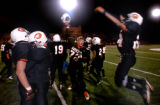 Aurora, Colo., photo taken October 29, 2004- Gateway players celebrate after comming back to beat...