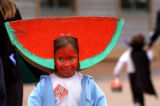 Denver, Colo., photo taken October 31, 2004- Adriana Martinez,7, of Denver dressed up as a...