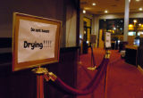 (LITTLETON  Colo., November10, 2004)  Paint dries in the lobby  of the Pinnacle Dinner Theatre in...