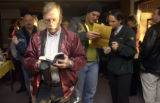 Arvada, Co.,  November 2, 2004.   At the First United Church of Arvada, some voters had to wait in...