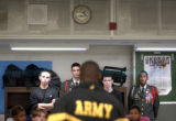 (DENVER  Colo., November10, 2004) George Washington High School Junior ROTC members listen to...