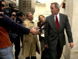 (DENVER, Colo., Nov. 17, 2004) Lin Wood, lawyer for Katelyn Faber, exits  the 10th U.S. Circuit...