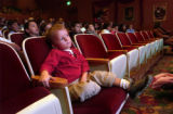 (Aurora, Colo., November 3, 2004) Bennet Rosen, 4, of Boulder watches as the aztec dance group...