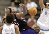 (DENVER , Colo, November 17, 2004)Vince Carter has a shot blocked by Kenyon Martin in the 2nd...