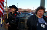 (DENVER, CO. NOVEMBER 18, 2004) (Lt. to Rt.) Bob Lopez, King Soopers employee and Diane Brounaugh,...