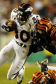 (Cincinnati, Colo, October 25, 2004) Denver Broncos vs.Cincinnati Bengals.  Rod smith runs after a...