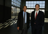 (DENVER Colo., November 22/2004) Chuck Lohmiller, left - President of Carrier West, and Bill P....
