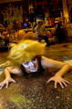(Boulder, CO. 11/5/04) Amy Grass, as Jellylorum, crawls along the floor during a rehearsal for...