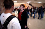 (DENVER, CO., OCTOBER 26, 2004) (CENTERthen far Lt.) North High School Principal Darlene LeDoux,...