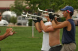 (DENVER, CO , June 29, 2004) Blue Knights Drum and Bugle Corps, Bradley Kerr-Green, brass caption...