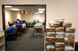10/27/2004 Golden-Absentee ballots are processed at the Jefferson County absentee ballot area in...