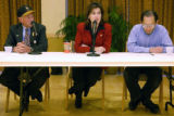 (BOULDER, Colo, October 27, 2004) (L-R) Steven Bosley-R, Jennifer Mello-D, and Daniel Ong-L,...
