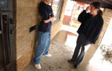 (DENVER. CO. FEBRUARY 15, 2005) (Lt. to Rt.) An unidentified truant student from Horace Mann...