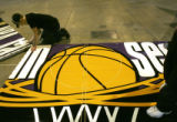 (02/15/2005, Denver, CO) Getting ready at the Colorado Convention Center for the NBA Allstars Game...