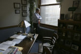 03/02/2005 Chicago-Chicago attorney William Spielberger stands in the office of Michael Lefkow in...