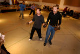 (BOULDER, Colo., June 16, 2004) During a swashbuckling/sword fighting practice session for The...