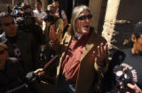 (Boulder, Colo.shot on 3/3/05)  Ward Churchill spoke at a noon rally Thursday by the fountain on...