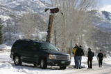 (2/21/05, Aspen, CO) Friends try to get their heads around the loss of Hunter S. Thompson, 67, who...