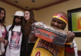 (DENVER, Colo., February 17, 2005) Blanche Means, Lil Jon and Alisa Kramer share a fan moment...